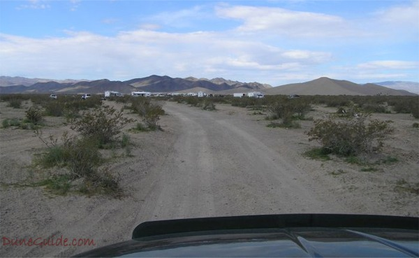 Amargosa access road from Valley View