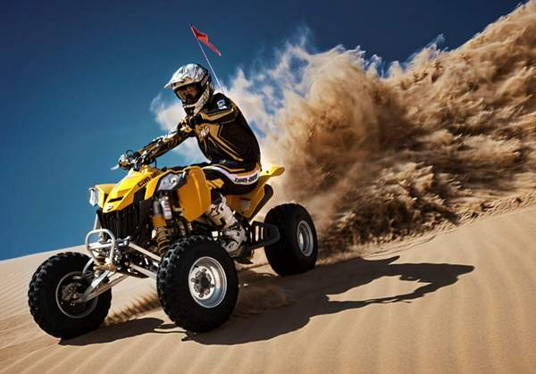Can-Am DS 450 Ripping up the Dunes