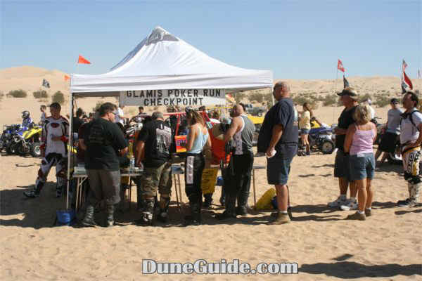 Glamis Poker Run - American Sand Association checkpoint