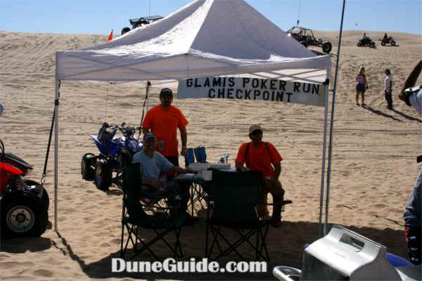 Glamis Poker Run - Orange Country ATV Association checkpoint