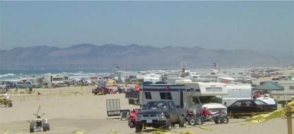 Oceano Dunes SVRA - RV Camping on the beach