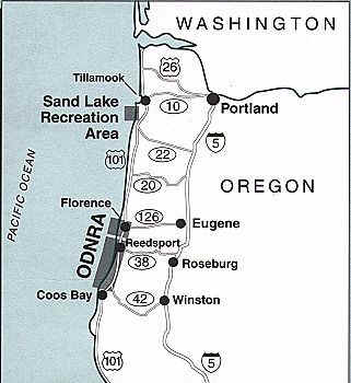 Oregon Dunes Vicinity Map