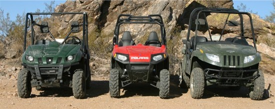 Side-by-side Comparison: Rhino vs. RZR vs. Prowler