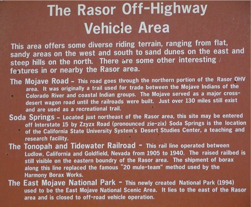 Rasor Dunes Description