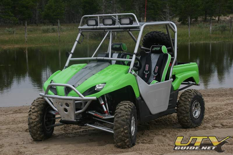 Kawasaki Teryx with 2 seat roll cage, bumpers and doors