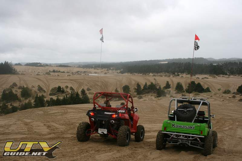 Polaris RZR & Kawasaki Teryx at Coos Bay - Oregon Dunes